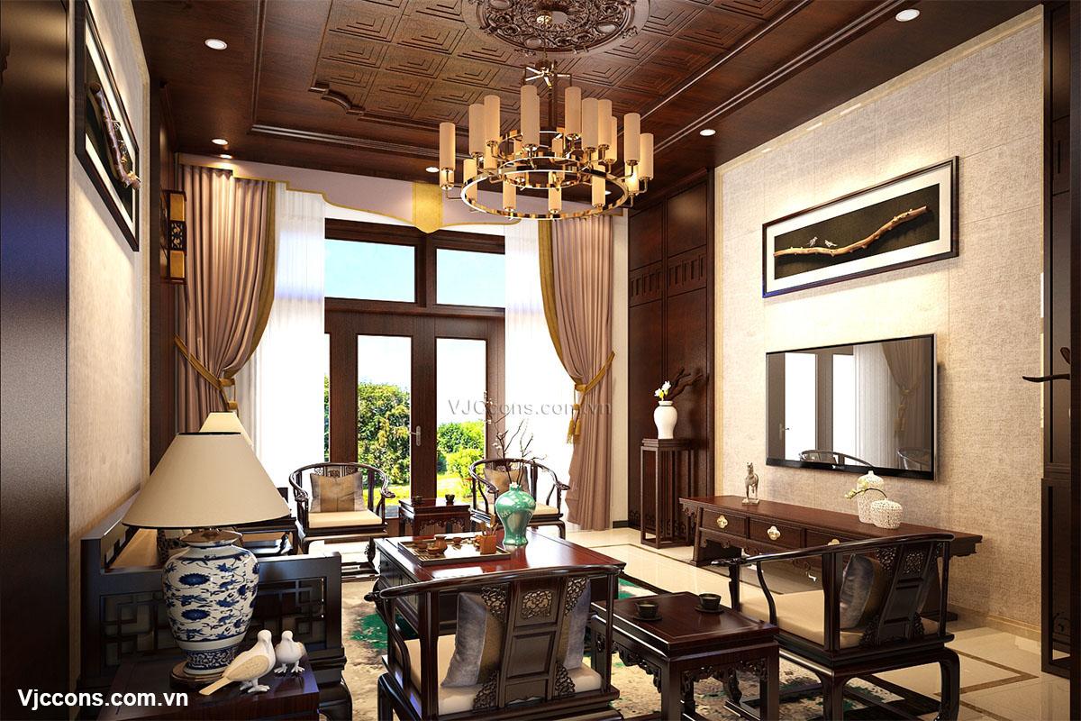 phòng khách cổ điển